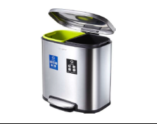 西安40升不锈钢两分类垃圾桶