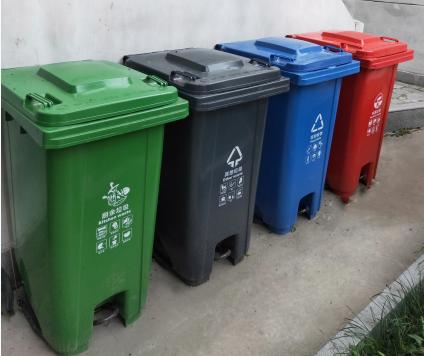 西安240升全新料脚踏塑料垃圾桶