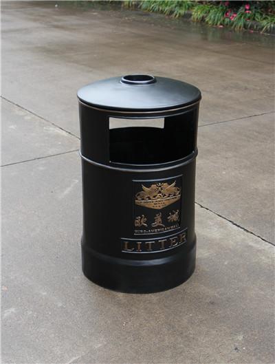 安康商场圆形铝质垃圾桶