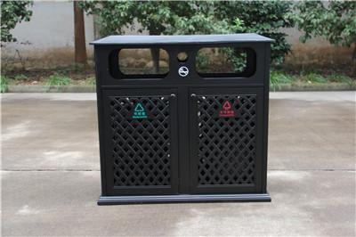 汉中铸铝双桶垃圾箱