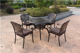 宝鸡庭院铝制桌椅遮阳伞中国结款
