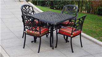 渭南室外方形铁艺休息桌椅