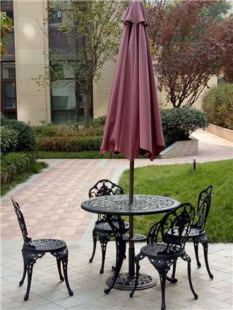 延安铸铝休闲桌椅