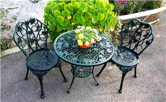 榆林别墅区铸铝休息桌椅
