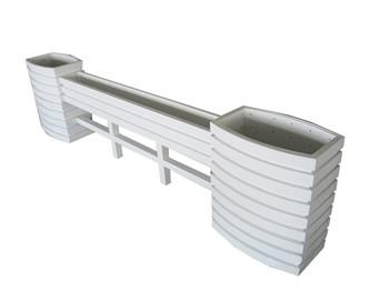绵阳白色pvc马槽花箱