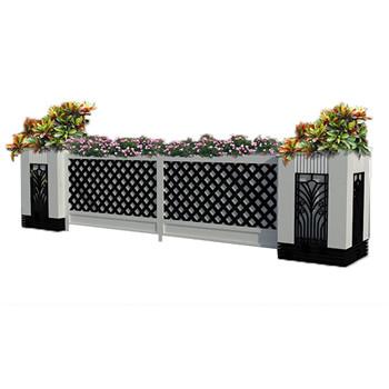广元德阳pvc黑白组合花箱