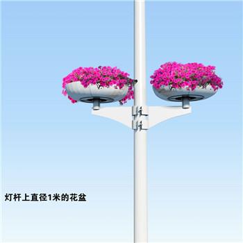 湖北武汉灯杆捆绑式花盆